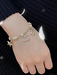 cheap -Women's Bead Bracelet Classic Star Korean Alloy Bracelet Jewelry Gold For Wedding