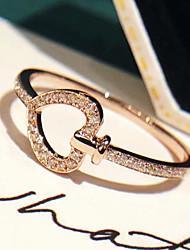 cheap -Women Promise Ring AAA Cubic Zirconia Geometrical Rose Gold Brass Sweet Heart Elegant Fashion Korean 1pc / Women's
