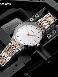 cheap -Sinobi Original Man Casual Business Classic Watches Men's Stainless Steel Gold Clock Man Watch Luminous Male Wristwatches reloj