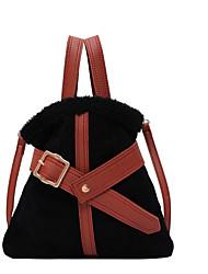 cheap -Women's Bags PU Leather Top Handle Bag Date Handbags Gray Khaki Black Beige