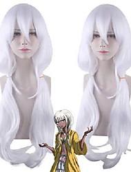 cheap -anime cosplay wig danganronpa angie yonaga silver long hair comic-con christmas carnival halloween party daily life men and women fashion wig