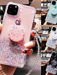 cheap -Phone Case For Apple Back Cover iPhone 13 iPhone 12 Pro Max 11 SE 2020 X XR XS Max 8 7 6 iPhone 13 Pro Max iPhone 13 Mini iPhone 13 Pro Ring Holder Translucent Glitter Shine Glitter Shine TPU
