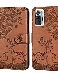 cheap -Phone Case For Xiaomi Full Body Case Mi 11 POCO X3 Redmi 9A Redmi 9C Redmi 9i Mi 11 Lite Poco F3 Redmi Note 10 Pro Note 10 Pro Redmi K40 / K40 Pro Wallet Card Holder Shockproof Graphic Solid Colored