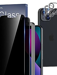 cheap -[2+2 pack compatible with iphone 13 mini 5.4'' - 2 pack privacy tempered glass screen protector & 2 pack camera lens protector, bubble free, case friendly, installation frame, [anti-spy]
