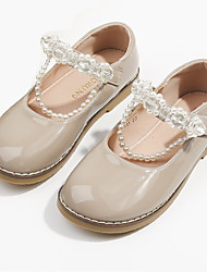 cheap -Girls' Flats Mary Jane Flower Girl Shoes Princess Shoes School Shoes Rubber PU Non-slipping Cosplay Big Kids(7years +) Little Kids(4-7ys) Daily Theme Party Walking Shoes Crystal / Rhinestone Almond