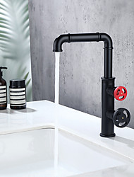 cheap -Single Handle Bathroom Faucet One Hole Vessel Sink Mixer Faucet with Tall  High Body Deck Mounted Matte Black Tap