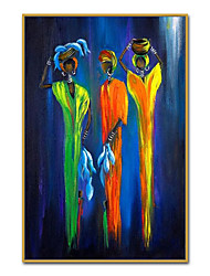 cheap -Oil Painting Handmade Hand Painted Wall Art Mintura Abstract African Tribeswoman For Home Decoration Decor Rolled Canvas No Frame Unstretched