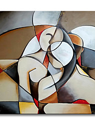 cheap -Oil Painting Handmade Hand Painted Wall Art Abstract Picasso Style Cartoon Character Home Decoration Decor Rolled Canvas No Frame Unstretched