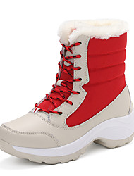 cheap -Women's Hiking Shoes Sneakers Hiking Boots Thermal Warm Waterproof Shock Absorption Wearable Hunting Fishing Hiking Leatherette Fall & Winter Red Blue White Black