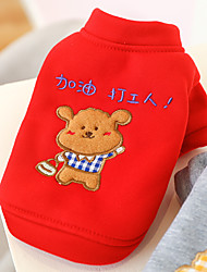 cheap -Dog Cat Sweatshirt Animal Adorable Cute Dailywear Casual / Daily Winter Dog Clothes Puppy Clothes Dog Outfits Soft Red Gray Costume for Girl and Boy Dog Cotton XS S M L XL