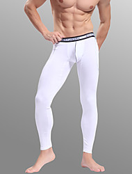 cheap -Men's Normal Nylon / Spandex Sexy Long Johns Solid Colored Low Waist