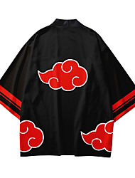 cheap -Inspired by Naruto Akatsuki Anime Cosplay Costumes Japanese Kimono Kimono Coat For Men's