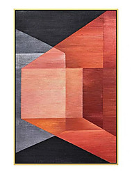 cheap -Oil Painting Handmade Hand Painted Wall Art Modern Abstract Geometry Pop Art  Home Decoration Decor Rolled Canvas No Frame Unstretched