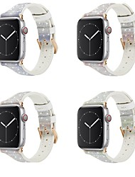 cheap -Smart Watch Band for Apple iWatch 1 pcs Modern Buckle Silicone Genuine Leather Replacement  Wrist Strap for Apple Watch Series 7 / SE / 6/5/4/3/2/1