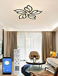cheap -Modern Acrylic Ceiling Lamp 27.3 inch 65W LED Maple Leaf Flower Design Adjustable Light Branch Chandelier Embedded Installation Chandelier Lamp Suitable for Living Room Bedroom and Restaurant