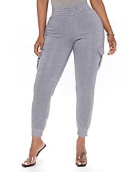 cheap -Women's Sports Sports Pants Yoga Pants Plain Full Length Light gray Black Dark Gray