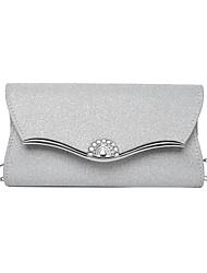 cheap -Women's Bags Evening Bag Party / Evening Date Chain Bag Silver Gold Black