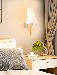 cheap -Wall Lights Matte Modern Nordic Style Wall Lamps Wall Sconces LED Bedroom Dining Room Glass Wall Light 220-240V
