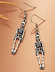 cheap -Women's Earrings Vintage Style Skull Statement Gothic Punk European Cool Earrings Jewelry Silver For Party Halloween Street Club Festival