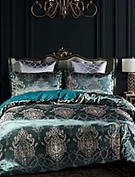 cheap -Luxury Satin Silk Jacquard Quilt Bedding Sets 3-Piece Duvet Cover Set Hotel Bedding Sets Comforter Cover, Include 1 Duvet Cover, 2 Pillowcases