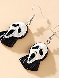 cheap -Men's Women's Earrings Vintage Style Skull Statement Stylish Gothic Punk European Earrings Jewelry Silver For Party Halloween Street Club Festival