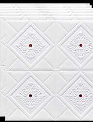 cheap -Wallpaper Wall Covering Sticker Peel and Stick Removable Faux Brick 3D PE Home Decor 70*70cm