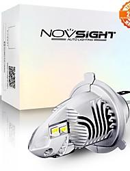 cheap -NOVSIGHT High Lightness Motorcycle H4 LED Bulbs 6000LM 35W 6000K White 12V Mini Design Motorcycle Headlamp HS1 9003 Plug and Play Headlights HB2 1pcs