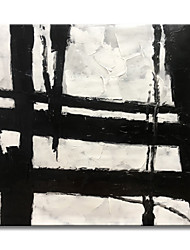 cheap -Oil Painting Handmade Hand Painted Wall Art Modern Abstract Texture Thick Black Lines Home Decoration Decor Rolled Canvas No Frame Unstretched