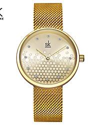 cheap -Shengke Woman Watches Gold Top Brand Luxury Watch Women Quartz Waterproof Women's Wristwatch Ladies Girls Watches Clock
