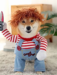cheap -Dog Cat Dog clothes Casual Daily Halloween Dailywear Dog Clothes Puppy Clothes Dog Outfits Cosplay 1 Costume for Girl and Boy Dog Cotton Blend S M L XL