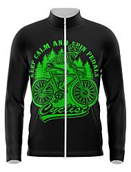 cheap -21Grams Men's Long Sleeve Cycling Jersey Spandex Black Skull Bike Top Mountain Bike MTB Road Bike Cycling Quick Dry Moisture Wicking Sports Clothing Apparel / Athleisure