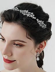 cheap -Retro Sweet Rhinestone / Alloy Crown Tiaras / Headbands / Headpiece with Crystal / Rhinestone / Split Joint / Trim 1 PC Wedding / Party / Evening Headpiece