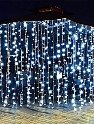 cheap -Curtain String Lights 3x1M 3x2M 3Mx3M Curtain Lights 24V Low Voltage Remote Control Solar Power Plug-in Dual Purpose String Light  Thanksgiving Christmas Outdoor Party Garden Decoration Fairy Lights Gypsophila   1 set