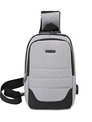 cheap -Men's Bags Oxford Cloth Nylon Sling Shoulder Bag Zipper Solid Color Daily Outdoor Tote Blue Light Gray Black Dark Gray