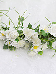 cheap -Fairy Wreath Headdress Handmade Simulation Small Daisy Starry Wedding Children Flower Girl Bridesmaid Wreath
