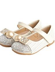 cheap -Girls' Flats Comfort Children's Day School Shoes PU Big Kids(7years +) Little Kids(4-7ys) Daily White Black Spring Summer