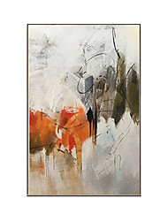 cheap -Oil Painting Handmade Hand Painted Wall Art Simple Abstract Large Wall Paintings Home Decoration Decor Stretched Frame Ready to Hang