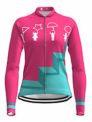 cheap -21Grams Women's Long Sleeve Cycling Jersey Spandex Rose Red Bike Top Mountain Bike MTB Road Bike Cycling Quick Dry Moisture Wicking Sports Clothing Apparel / Stretchy / Athleisure