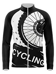 cheap -21Grams Men's Long Sleeve Cycling Jersey Spandex Black Bike Top Mountain Bike MTB Road Bike Cycling Quick Dry Moisture Wicking Sports Clothing Apparel / Athleisure