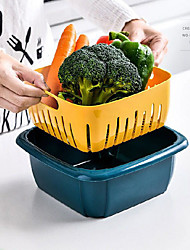 cheap -vegetable washing basket drain basket kitchen refrigerator with lid sealed double-layer plastic household storage container for fruits and vegetables