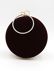 cheap -Women's Bags Polyester Alloy Evening Bag Crystals Solid Color Party / Evening Daily Evening Bag Dark Red Black