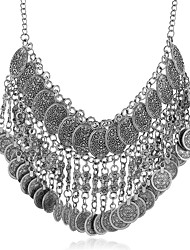 cheap -Choker Necklace Statement Necklace Women's Layered Totem Series Unique Design Vintage European Wedding Silver Gold 50 cm Necklace Jewelry 1pc for Halloween Carnival Prom Semicircle