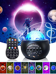 cheap -Galaxy Projector Night Light Planet Starry Star Projector light with Bluetooth Music Speaker Rotation Lamp for Room Nebula Cloud  Children's Kids Decorate Bedroom  Gift