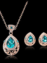cheap -Women's Bridal Jewelry Sets Hollow Out Pear Fashion Gold Plated Earrings Jewelry Gold For Christmas Party Wedding Gift Festival 1 set