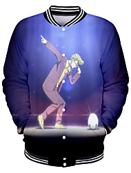 cheap -Inspired by Akudama Drive Cosplay Varsity Jacket Polyster Anime 3D Harajuku Graphic Coat For Men's / Women's