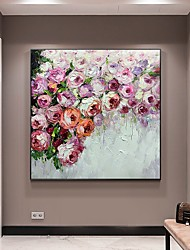 cheap -Oil Painting Handmade Hand Painted Wall Art Abstract Colorful Rose Landscape Home Decoration Decor Stretched Frame Ready to Hang