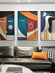 cheap -Wall Art Canvas Prints Painting Artwork Picture Modern Abstract People Home Decoration Decor Rolled Canvas No Frame Unframed Unstretched