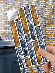 cheap -American Tile Sticker Golden Pop Blue Mosaic Self-adhesive Kitchen Wall Sticker Imitation 3d Tile Sticker