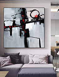 cheap -Oil Painting Handmade Hand Painted Wall Art Mintura Modern Abstract Figure Picture For Home Decoration Decor Rolled Canvas No Frame Unstretched