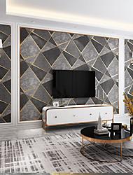 cheap -Wallpaper Wall Covering Sticker Film  Embossed Stripe Irregular Diamond Deerskin Velvet Deerskin Velvet Non Woven Home Deco 53*950CM
